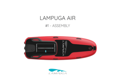 "A red Lampuga Air Jetboard with the Heading reading ""Assembly"""